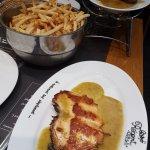 Escalope saumon, frites maison
