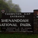 Thornton Gap Entrace on a foggy day