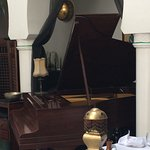 The baby grand waiting for Sam.  Rick's Cafe, Casablanca.