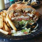fried chicken club - huge!