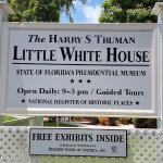 Harry S. Truman Little White House - sign in front of house