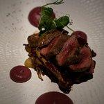 Venison, red cabbage, Davidson plum; aud22