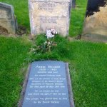 Anne Brontes grave in St Marys churchyard at side of Norbreck
