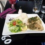 plat: raie aux capres et riz