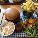 Pork and Apple burger from the specials board (with added extra of BBQ pulled pork)