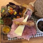 Cumbrian platter - perfect as a meal for one or a starter for more than one!