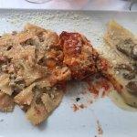 Carpacio and Tris di pasta