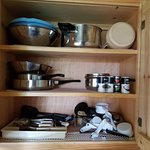 Pots & Pans and utensils - Cabin #208