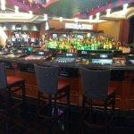Liquor bar inside Redhawk