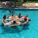 Aquaerobics in the big pool