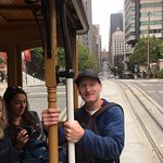 our cool guide knew how to get us quickly on and off the famous cable-car without all the queuin