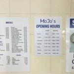 The menu. They do OAP specials too!