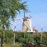 View of the big windmill from the back.