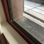 sawdust on the windowsill