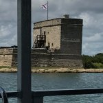 A view of Fort Matanzas from the ferry.