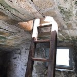This is the narrow ladder. It is a tight fit; I didn't like coming down, but the views were wort