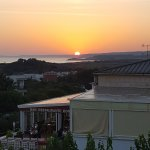 Il tramonto dal ristorante Los Olivos