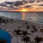 Sunrise in Cancun.