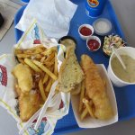 Halibut fish and chip