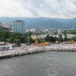 Similar scene at Yalta pier in 2012