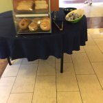 bagels set up away from congestion