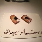 This special anniversary pastry was a very nice surprise.