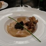crab ravioli with truffles