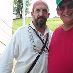 Pete the Pirate and my buddy Fred