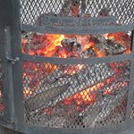 Outdoor Fire Pit [burning REAL wood]