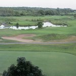 View of the golf course from the hotel