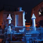 Muristan Complex in the Christian Quarter - fountain at night