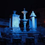 Muristan Complex in the Christian Quarter - fountain at night (2)