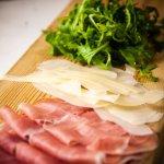 Parma Ham, Parmesan Shavings, Fresh Rocket Salad