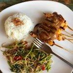 Satay chicken.