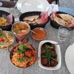 Dhal, Messi Roti, Veg Biryani, Garlic Nann, Manchurian