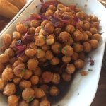 Chickpeas w balsamic, tomatoes, and flavoured oil