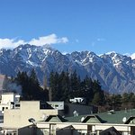 View from the balcony of town and the Remarkables.
