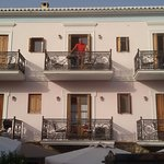 the hotel and our balcony