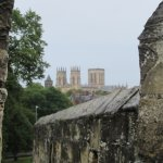 York Minster from the city wall.