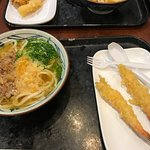 Tempura and udon noodle soup