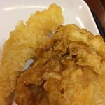 Tempura, and some fried chicken too.