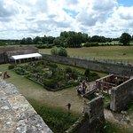 vue du haut du château sur le jardin