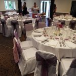 the room laid out for reception