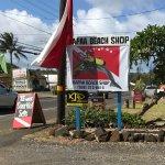 Kapaa Beach Shop and their friendly dolphin mascot!