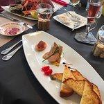 Foie gras et assiette de fruits de mer