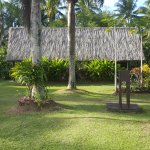 Adjoining bure ie 2 x 4pp rooms and opposite camera direction view of beach.