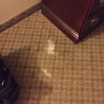 Uncleaned rooms: Room 309 had three hardened white patches on the floor