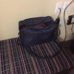 Room 310 had a traveler's bag still on the bench