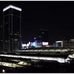 Tokyo railway station at night time