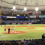 """Our view of """"The Trop"""" from great seats bought on game day"""